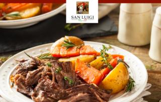 Italienisch kochen mit San Luigi - Rinderschmorbraten in Chianti